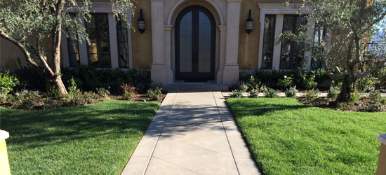 Residential concrete delivery and placement in Orange County & Los Angeles