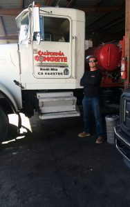 Ready mix concrete delivery in Southern California