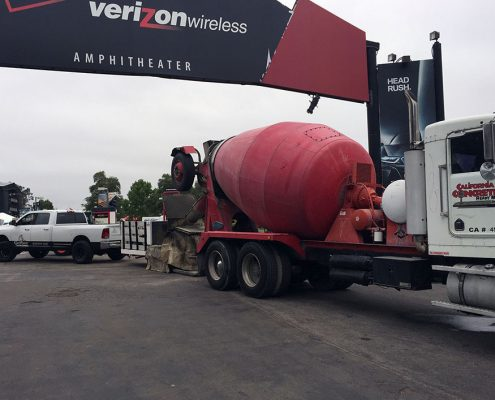 Concrete Delivery and Placement for VZW Amphitheater in Irvine, CA