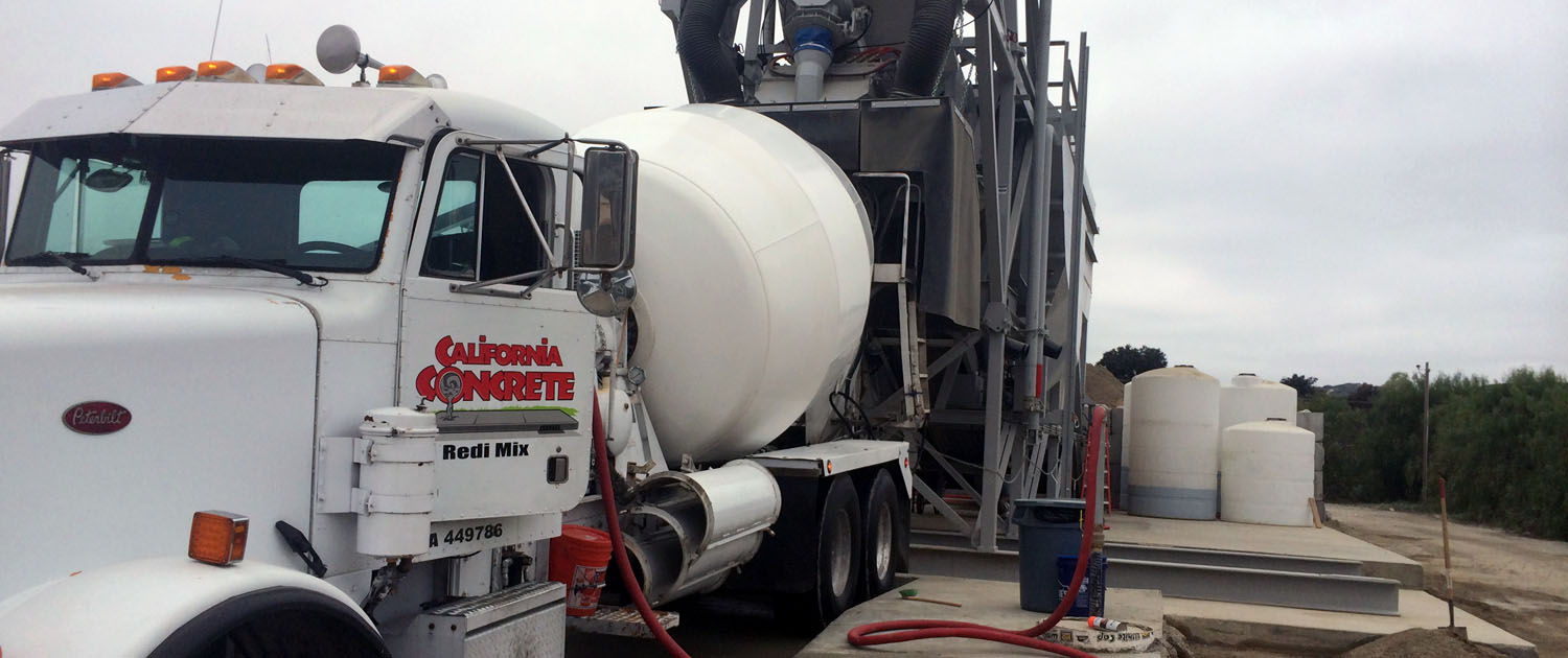 Orange County ready mix concrete delivery